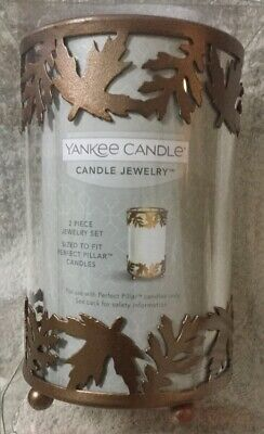 Fall Pillar Candle (Yankee Candle Jewelry Leaves Fall Autumn For Perfect Pillar NEW Holder Topper L* )
