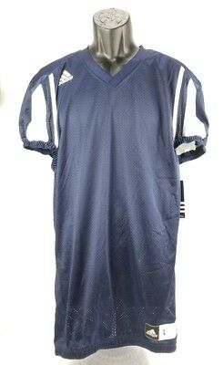 Adidas Football Jersey Men's Small Collegiate Navy Blue White S New ClimaCool -
