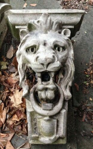 ANTIQUE LIMESTONE CORBEL of LION obtained from NYC historic building