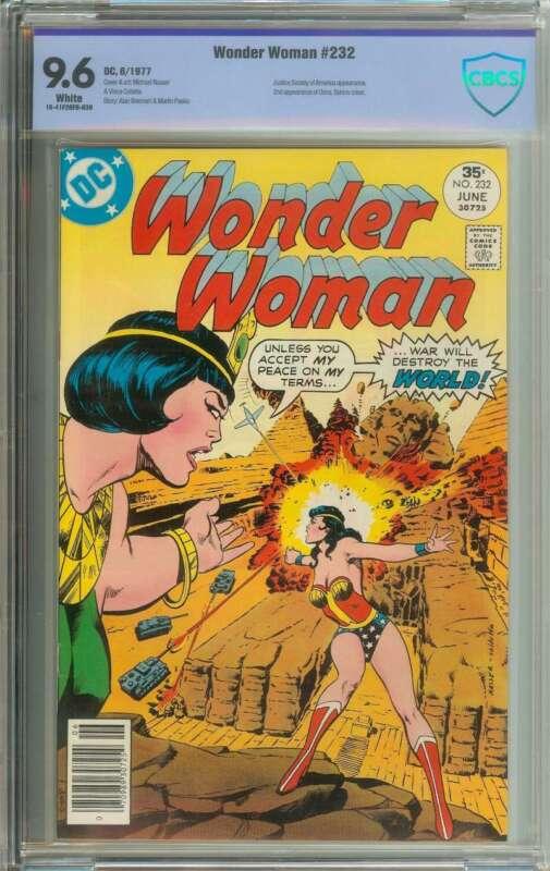 WONDER WOMAN #232 CBCS 9.6 WHITE PAGES