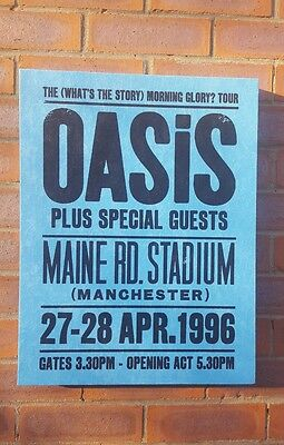 Oasis - Maine Road Concert - Wall Canvas