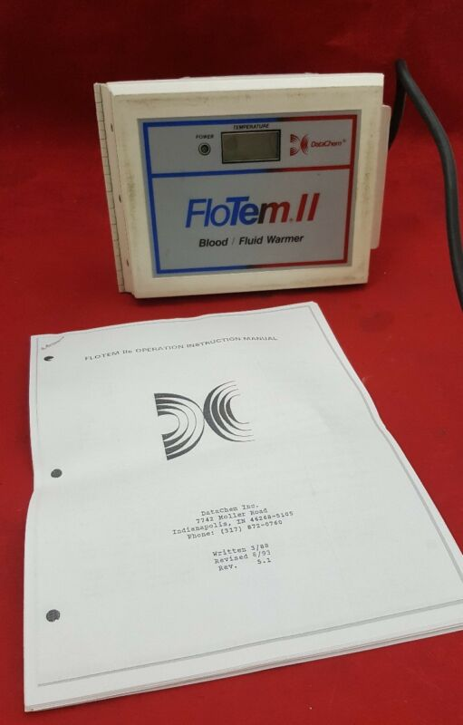 DataChem FloTem II Blood/Fluid Warmer See Description For Condition