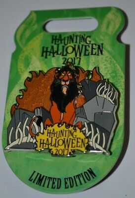 Disney Scar Haunting Halloween 3-D Pin 2017 Limited Edition 4500  ](Disney Halloween 2017)