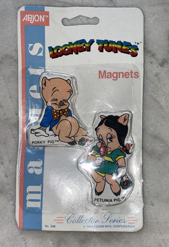 Looney Tunes Magnet by Warner Bros 1989 Porky Pig & Petunia ORIGINAL PACKAGING
