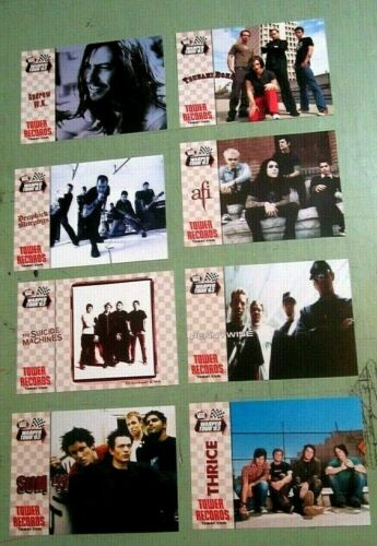 Andrew WK Dropkick Sum 41 AFI Pennywise Warped Tour 2003 Set of 8 T.R. Postcards