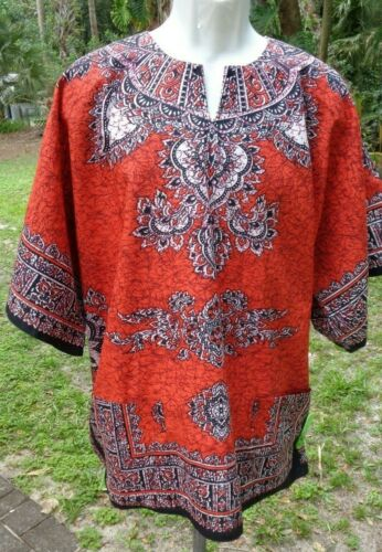Authentic 100% Cotton Made in Kenya Colorful Dasheeki by Stoneage Arts Inc, szXL