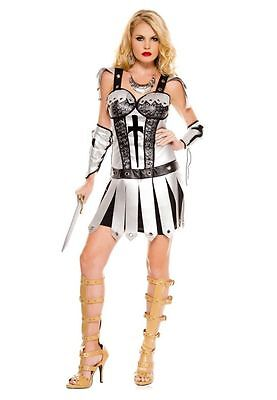 BRAND NEW Women's Hot Knight Costume 2PC dress with cross applique SIZE M/L - Knight Costume For Women