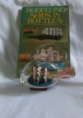 Vintage Ship in a Bottle & Modelling Ships in Bottles Book