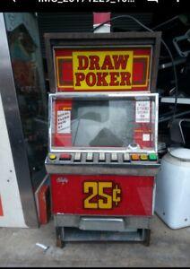 Vintage Bally Video Draw Poker Slot Machine - Collectible
