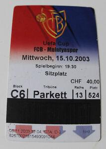 Ticket for collectors EC FC Basel Malatyaspor Kulubu 2003 Switzerland Turkey - <span itemprop='availableAtOrFrom'>Internet, Polska</span> - Ticket for collectors EC FC Basel Malatyaspor Kulubu 2003 Switzerland Turkey - Internet, Polska