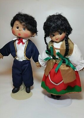 Vintage Cloth Doll Rubber Face Ethnic Mexican  Dress Boy Mariachi Girl Dancer](Mariachi Clothing)