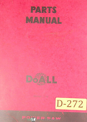Doall C-12 Power Saw Parts List And Drawings Manual 1968