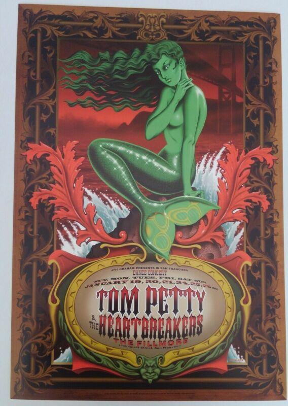 Vintage Tom Petty Poster From 1997 San Francisco Fillmore Show