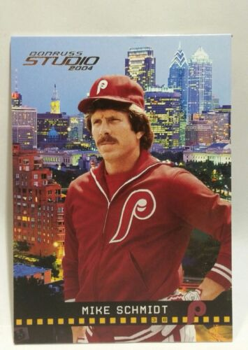 philadelphia phillies mike schmidt donruss studio 153 2004