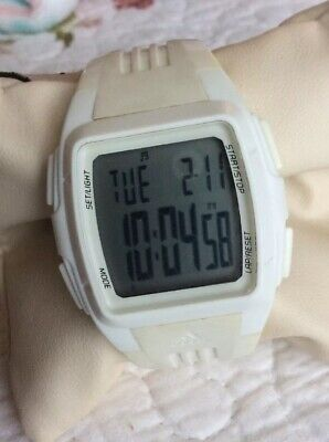 Women's Adidas ADP6012 White Sports Watch WR 5ATM Chronograph