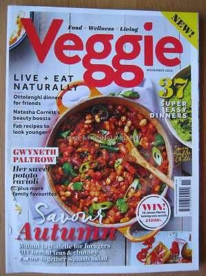 Veggie magazine November 2015 Gwyneth Paltrow Ravioli Ottolenghi Vegetarian food (Vegetable Ravioli)