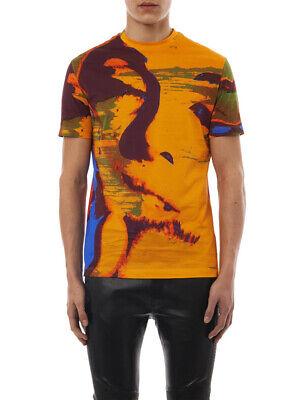New Versace Mens Marilyn Monroe Short Sleeve T-shirt, Orange