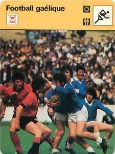 "FICHE CARD: Football gaélique Caid Peil Ghaelach Gaelic football 1970s - France - Jeux Olympique Olympic GamesPORT EUROPE GRATUIT A PARTIR DE 4 OBJETSBUY 4 ITEMS AND EUROPE SHIPPING IS FREE FICHE FRANCE ANNEES 70s ETAT VOIR PHOTO FORMAT 16 CM X 12 CM SIZE : 6.29 "" X 4.72 "" inch FICHE SPORT FOOTBALL.5 - France"