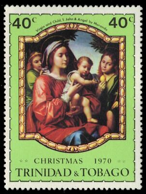 """TRINIDAD & TOBAGO 194 (SG389) - """"Virgin and Child with St. John and Angel"""" (pa84"""