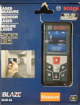 Bosch Glm 42 Laser Measure 135ft - New Cr