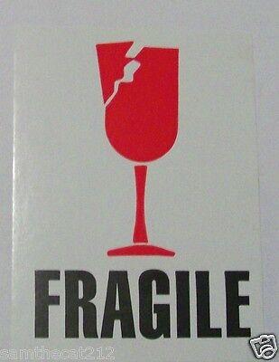 100 3x4 Fragile Imp International Safe Handling Shipping Label