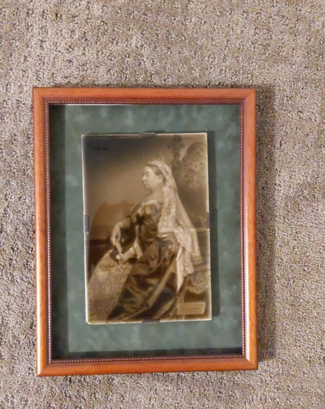 Framed Sherwin & Cotton Tile of Queen Victoria 1897