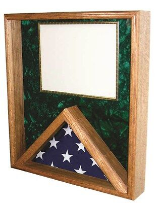 Flag & Certificate Display Case Shadow Box - for 3x5ft Flag - Flag Certificate Display Case