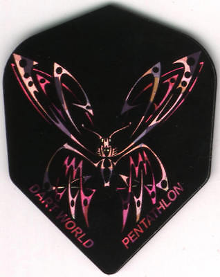 Purple And Pink Butterfly Dart Flights  3 Per Set