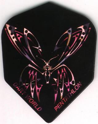 Purple And Pink Butterfly Dart Flights  3 Per Set