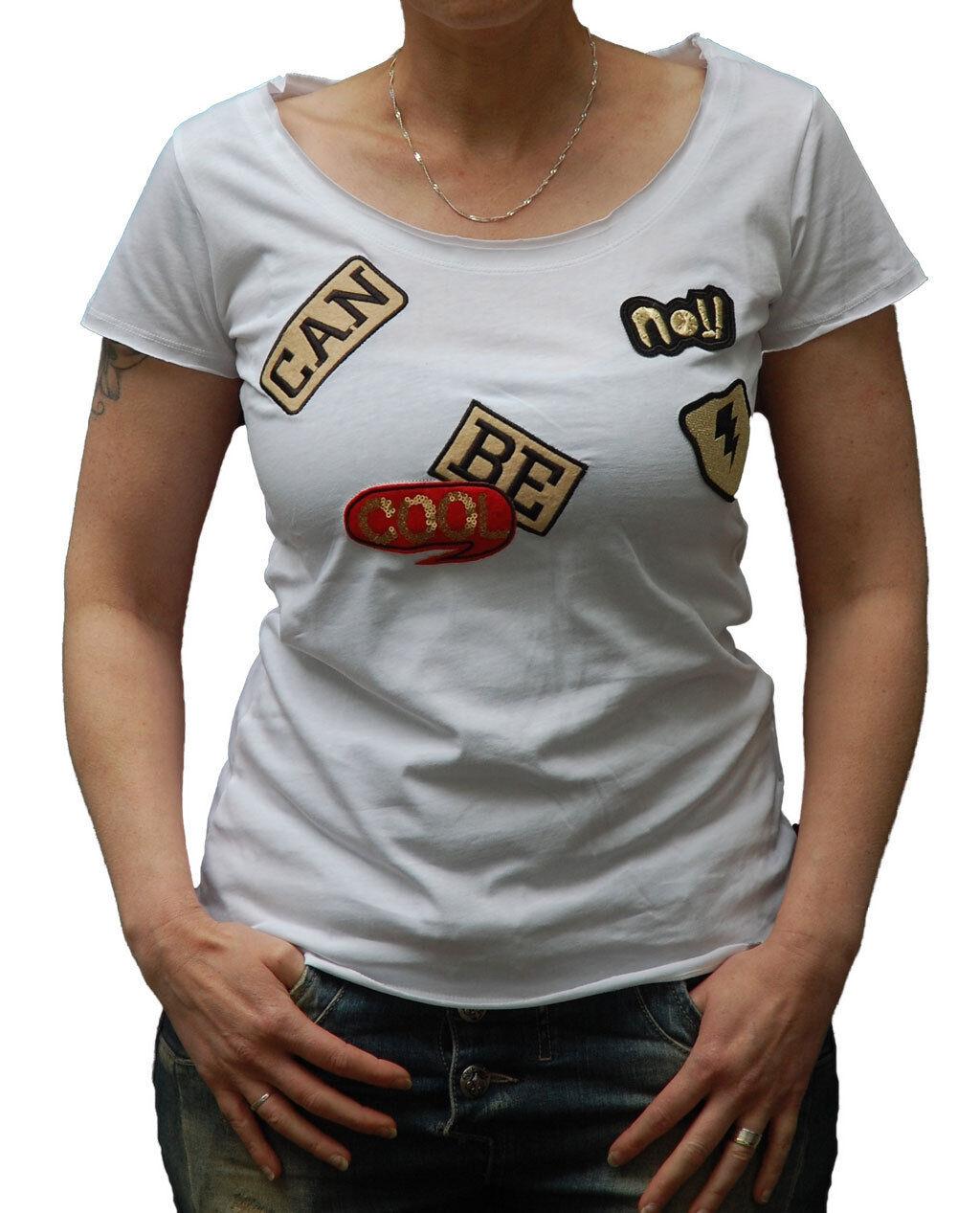 Key Largo, Damen-T-Shirt, No, Patches, White