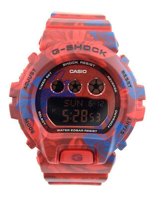 CASIO Midsize G-SHOCK GMDS6900F-4 Digital Red/Blue Dial Red/Blue Camo Resin Band