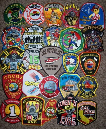"""*CLEARANCE*  Set # 61 - 25 Total Fire Patch Set  """"NO DUPLICATES IN SET"""""""