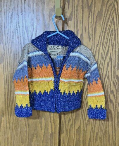 ECC Ecuadorian Clothing Sweater Size S Wool Cotton Boys Toddler Handmade