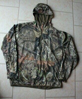 9ec8f4ccc1a7b New Scent Control Mossy Oak 1/4 Zip Hoodie Pull Over Deer Turkey SZ: Men's  XL