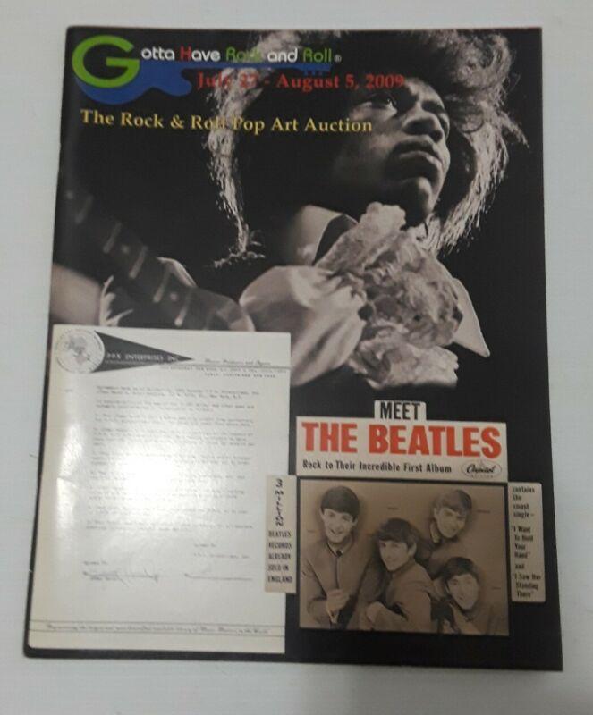 Gotta Have It! Rock & Roll's Rock & Pop Art Hendrix Beatles 2009 Auction Catalog