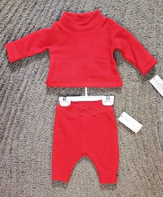 Ralph Lauren Baby Girls 2 Piece Red Outfit - Size 3 Months - NWT