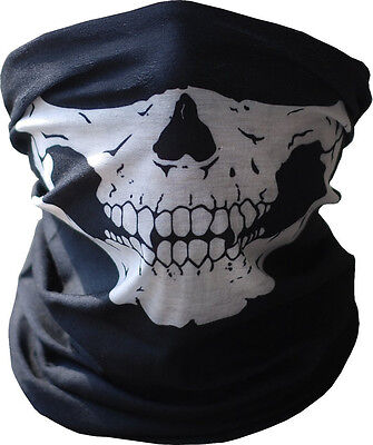 Black Ghost Skeleton Skull Face Mask Biker Costume Game Halloween Cosplay](Biker Halloween Costume)