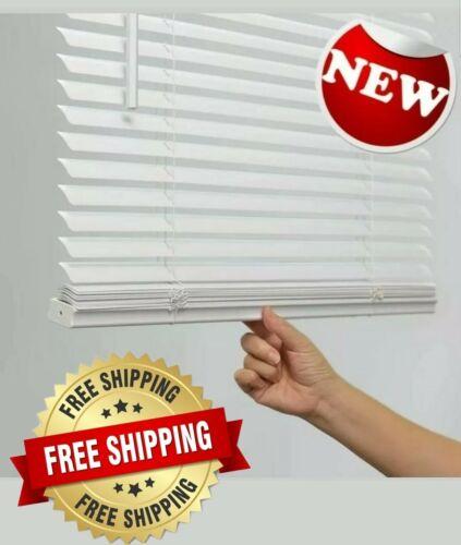 1-in Cordless White Vinyl Light Filtering Mini Blinds multip