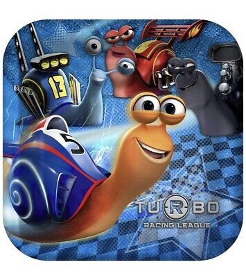 Racing Birthday Party Supplies (Turbo Racing League Lunch Dinner Plates 8 Per Package Birthday Party)