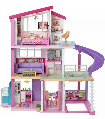  Barbie Dreamhouse Dollhouse with Pool, Slide and Elevator - 70 pieces NEWEST