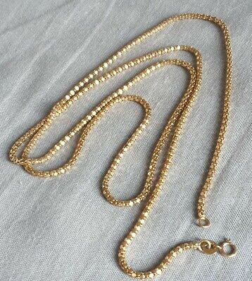 """9ct Gold Heavy Chain 31"""" long. Fully hallmarked Not Scrap, used for sale  Shipping to South Africa"""