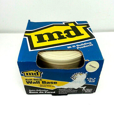 """M-D Building Products Self-Stick Almond Wall Base # 93229 Vinyl Roll 4"""" x 20'"""