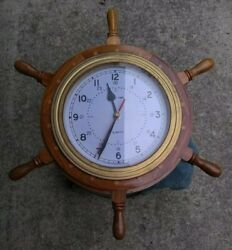 Large 18 inch Nautical wall decor ship's clock