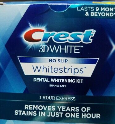 Crest 3D WhiteStrips 1 Hour Express, 14 Strips/7 Treatments, Exp.8/19 or
