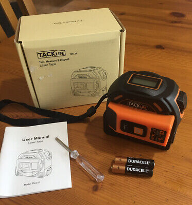 Tacklife Laser Tape Measure 2-in-1 Laser131 Ft Tape16 Ft With Lcd Display
