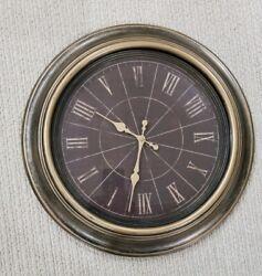 18 Antique Bronze Masterpiece Round Quartz Clock Uses 1 AA Battery