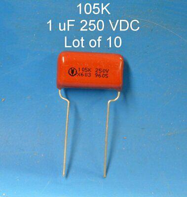 1 Uf 400 V Audio Capacitors Qty 10 Tube Radio Film Metallized Polypropylene