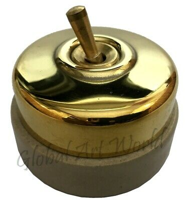 Vintage Re-Created Plain Brass High Quality Ceramic Stylish Dolly Switches BP 02