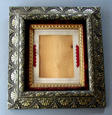 8x10 Swivel Frame Vintage Ornate Silver Wood with Optional  Glass and Custom Cut Matting