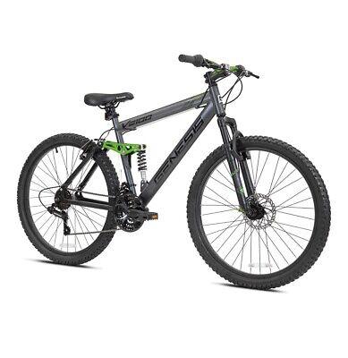 "Genesis 26"" V2100 Men's Dual Suspension Mountain Bike, Slate Gray"
